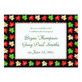 Holiday Bright Pattern WEDDING Personalized Announcement