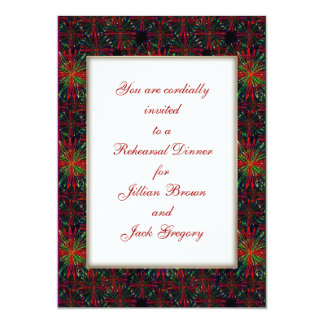 Holiday Bright Pattern WEDDING Rehearsal Dinner Personalized Invitations