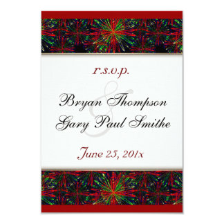 Holiday Bright Pattern Wedding RSVP Announcements