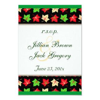 Holiday Bright Pattern Wedding RSVP Invitation
