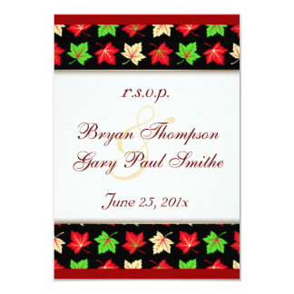 Holiday Bright Pattern Wedding RSVP Personalized Invitations