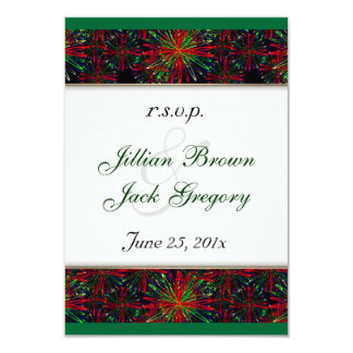 Holiday Bright Pattern Wedding RSVP Custom Invitation