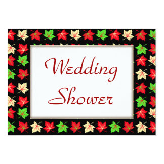 Holiday Bright Pattern WEDDING Shower Personalized Announcement