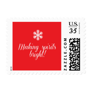 Holiday Bright Spirits Postage Stamp