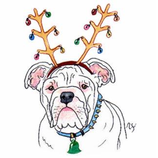 Holiday Bulldog Sculpture
