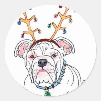 Holiday Bulldog Stickers