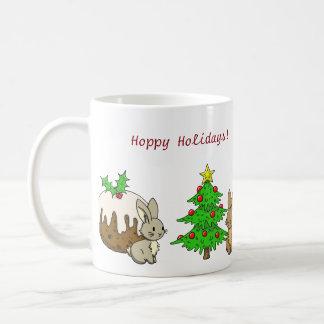 Holiday Bunnies Coffee Mug