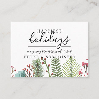 Holiday Business Personalized Business Card