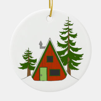 Holiday Cabin: 'Tis the Season to be Cozy Ceramic Ornament