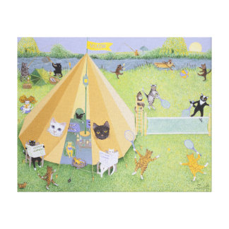Holiday Camp Canvas Print