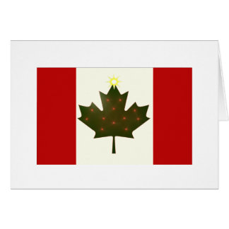 Holiday Canadian Flag Card