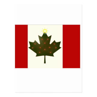 Holiday Canadian Flag Postcard