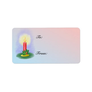 Holiday Candle gift label