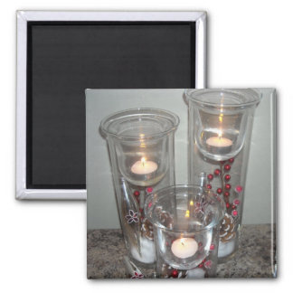Holiday Candle Light Magnet