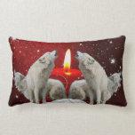 Holiday Candle light Singers Lumbar Pillow