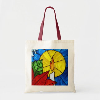 Holiday Candle Tote Bag