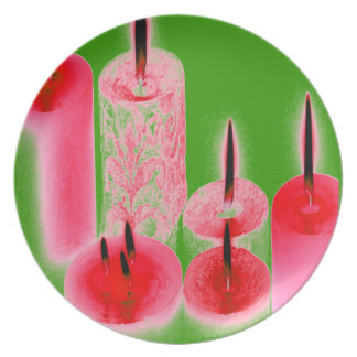 HOLIDAY CANDLES BY LIZ LOZ DINNER PLATE