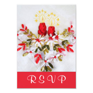 Holiday Candles & Florals RSVP Card