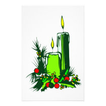 Holiday Candles Stationery