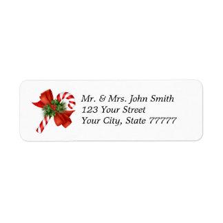 Holiday Candy Cane Address Label