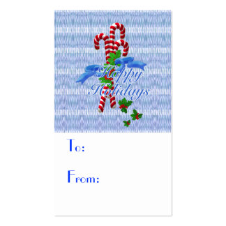 Holiday Candy Cane Gift Tags - Business Cards