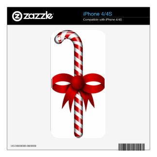 Holiday Candy Cane Heart Party Destiny Celebration Skin For The iPhone 4S