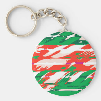 Holiday Candy Cane Keychain