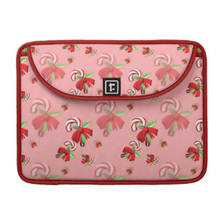 Holiday Candy Canes Sleeve For MacBook Pro