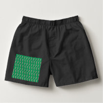 Holiday Candy Canes on Green Boxers