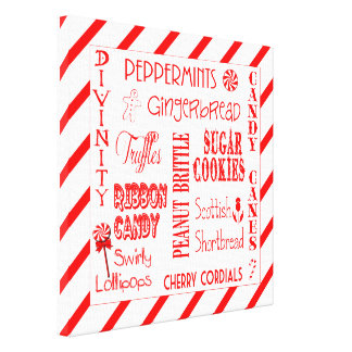 Holiday Candy Favorites Wall Canvas
