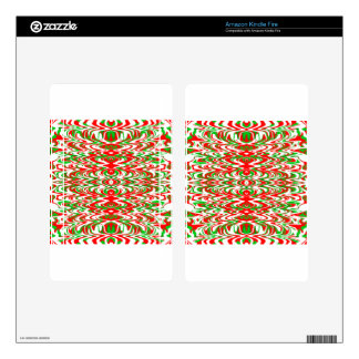 Holiday Candy Kindle Fire Skins