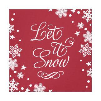 Holiday Canvas Art | Let it Snow