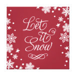 Holiday Canvas Art | Let it Snow Canvas Print