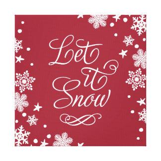 Holiday Canvas Art   Let it Snow Canvas Print