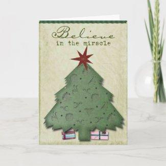 holiday card card