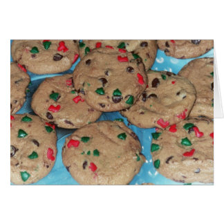 Holiday Card:  Chocolate Chip Christmas Cookies