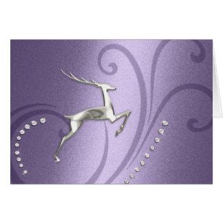 Holiday Card Reindeer Lavender Purple