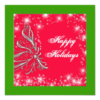 Holiday Card Square Custom Announcements