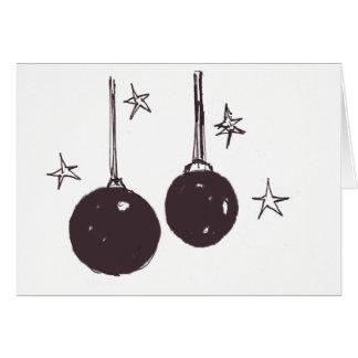 Holiday Card-Stars and Balls Card