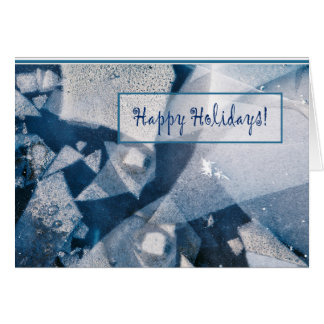 Holiday card with blue ice