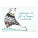 Holiday Card With Cute Polar Bear