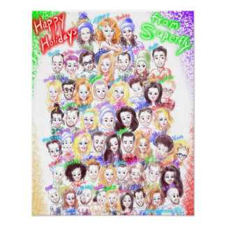 Holiday Caricatures Poster