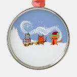 Holiday Cats Make Music Ornament
