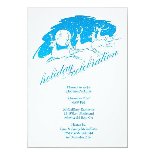 Holiday Celebration Christmas Party Invitation
