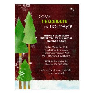Holiday Celebration Party Invitation Postcards