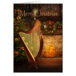 Holiday Celtic Harp Card