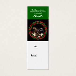 Holiday Celtic Mastiff Gift Tag