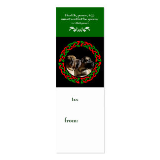 Holiday Celtic Mastiff Gift Tag Business Card Templates