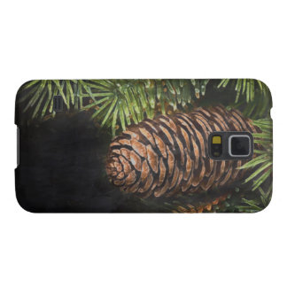 Holiday Chalk Drawn Pinecone and Pine Needles Case For Galaxy S5