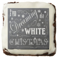 holiday  chalkboard  white Christmas Brownie